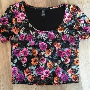 Flower Black Shirt